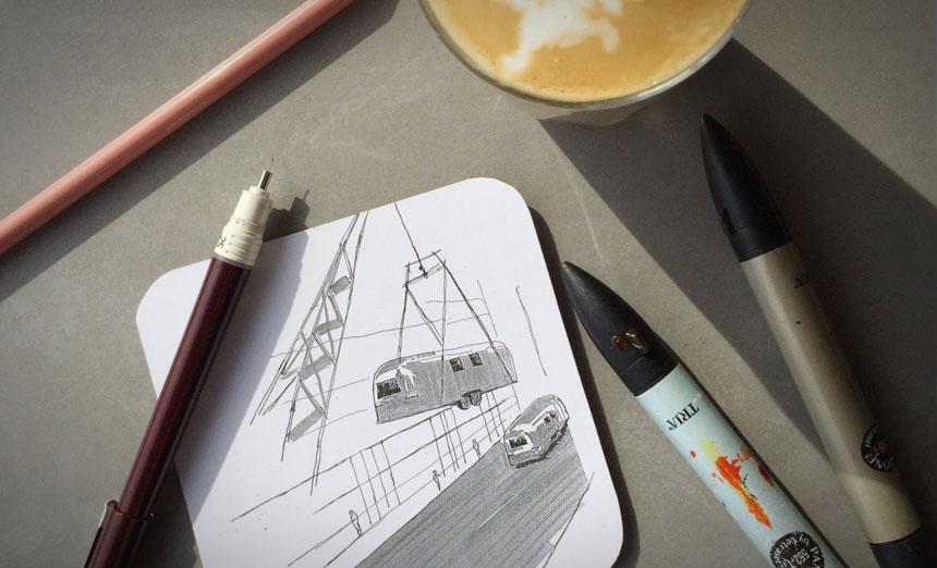 Notel Melbourne sketch concept
