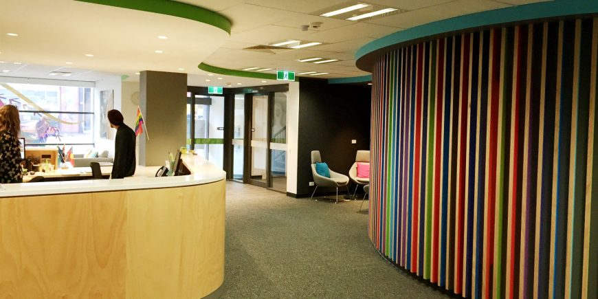 Headspace Adelaide foyer and reception