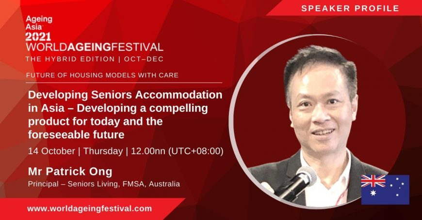 Patrick Ong Ageing Asia presenter